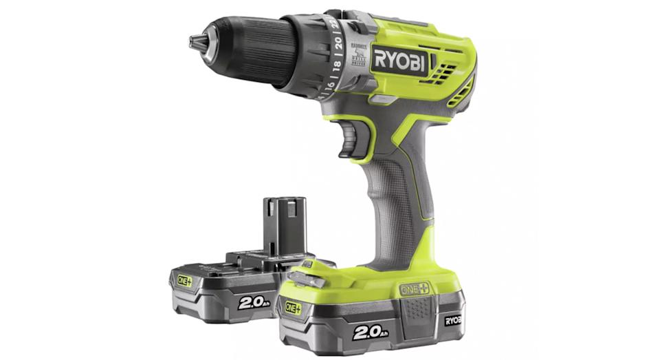 Ryobi ONE+ 2Ah Cordless Combi Drill with 2 Batteries