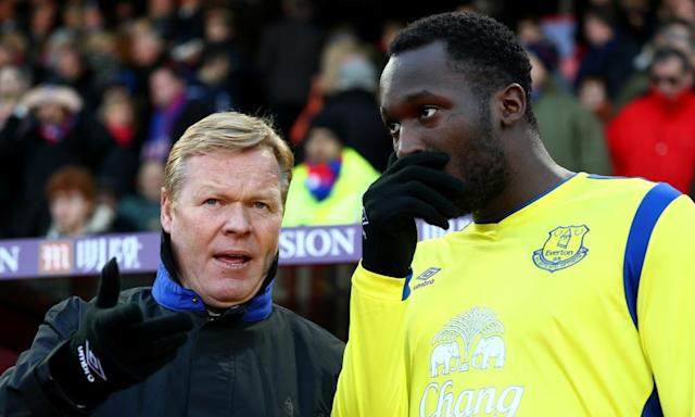 "<span class=""element-image__caption"">Ronald Koeman talks tactics with Romelu Lukaku before January's match at Crystal Palace. The Everton manager has had some stern words for his striker lately.</span> <span class=""element-image__credit"">Photograph: Ian Walton/Getty Images</span>"