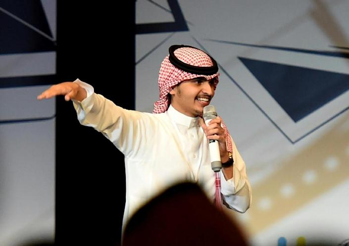 Chuckles and squeals ran through the crowd at a rare amateur comedy festival in the Saudi capital (AFP Photo/Fayez Nureldine)