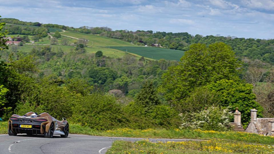 The Elva cuts its way through the English Cotswolds. - Credit: Photo: Courtesy of McLaren Automotive Limited.