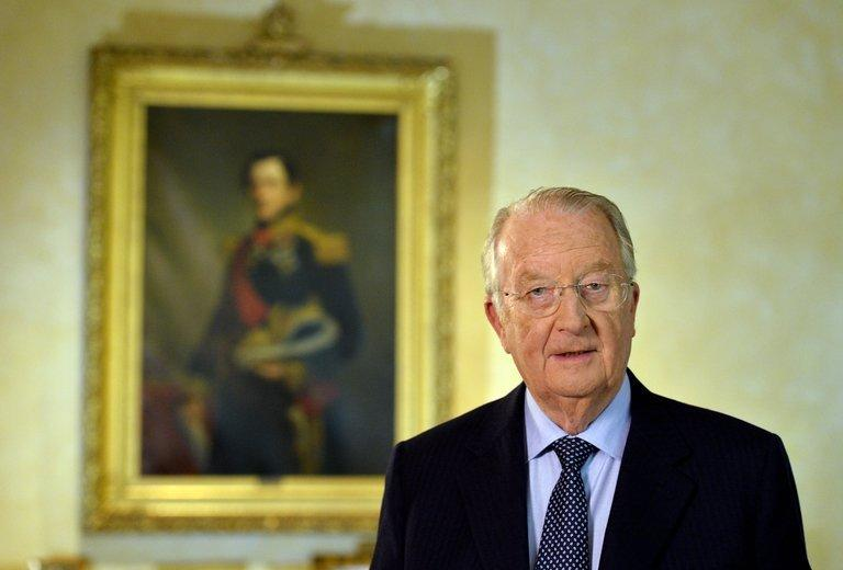 King Albert II of Belgium delivers a speech at the royal palace in Brussels on July 3, 2013