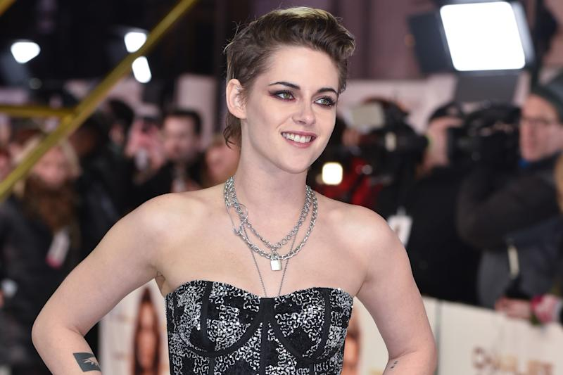 Kristen Stewart attends the Charlie's Angels Premiere at the Curzon Mayfair in London. (Photo by James Warren / SOPA Images/Sipa USA)