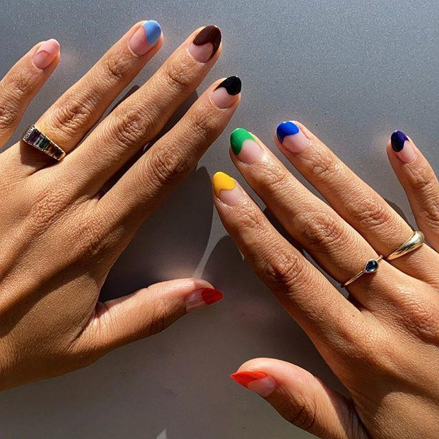 """<p>Take multi-colored French tips to the next level by creating a wavy design. </p><p><a class=""""link rapid-noclick-resp"""" href=""""https://go.redirectingat.com?id=74968X1596630&url=https%3A%2F%2Fwww.ulta.com%2Ftrolls-world-tour-collection-6-piece-mini-kit%3FproductId%3Dpimprod2015582&sref=https%3A%2F%2Fwww.goodhousekeeping.com%2Fbeauty%2Fnails%2Fg1267%2Ffrench-manicure-ideas%2F"""" rel=""""nofollow noopener"""" target=""""_blank"""" data-ylk=""""slk:SHOP RAINBOW POLISH SET"""">SHOP RAINBOW POLISH SET</a></p><p><a href=""""https://www.instagram.com/p/CB_F84DJkrk/&hidecaption=true"""" rel=""""nofollow noopener"""" target=""""_blank"""" data-ylk=""""slk:See the original post on Instagram"""" class=""""link rapid-noclick-resp"""">See the original post on Instagram</a></p>"""