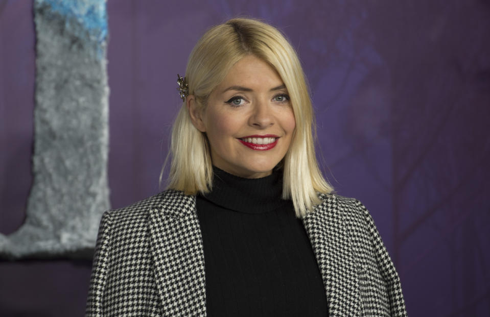 """LONDON, ENGLAND - NOVEMBER 17: Holly Willoughby attends the """"Frozen 2"""" European premiere  at BFI Southbank on November 17, 2019 in London, England. (Photo by Stuart C. Wilson/Getty Images)"""