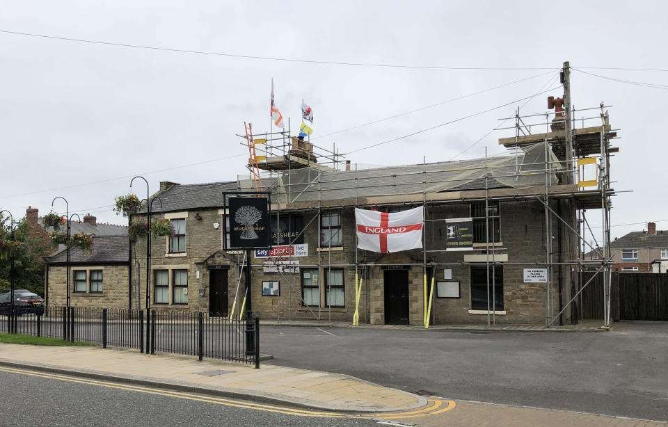 The Wheatsheaf pub in Chilton, County Durham, which police temporarily closed on Saturday.