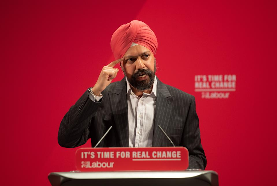 Labour Party parliamentary candidate for Slough, Tan Dhesi at the launch of the Labour Party race and faith manifesto at the Bernie Grant Arts Centre, north London.