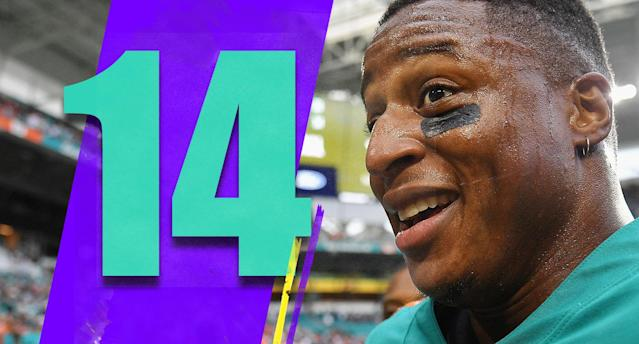 <p>The Kenyan Drake touchdown was awesome, and before that play he had six touches. Six! There aren't many coaching decisions that have been stranger this season than the Dolphins simply refusing to give Drake a bigger part of the offense. (Kenyan Drake) </p>