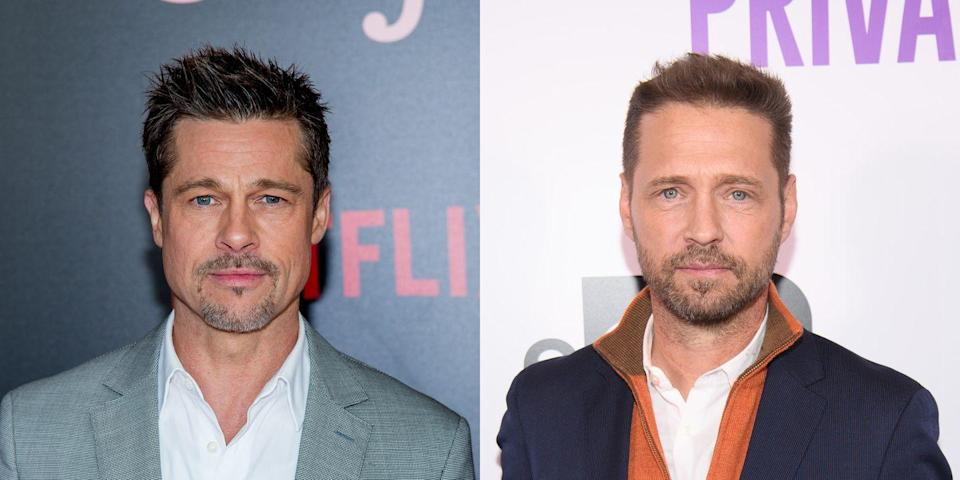 """<p>The former <em>Beverly Hills, 90210</em> star <a href=""""http://www.dailymail.co.uk/tvshowbiz/article-2618257/Jason-Priestley-reveals-lived-Brad-Pitt-struggling-actors-dishes-diva-antics-fellow-stars-new-memoir.html"""" rel=""""nofollow noopener"""" target=""""_blank"""" data-ylk=""""slk:revealed in his book"""" class=""""link rapid-noclick-resp"""">revealed in his book</a>, <em>Jason Priestley: A Memoir,</em> that he once lived with Pitt in the early '90s. An excerpt from his book explained their living situation: """"We lived on Ramen noodles and generic beer—the kind that came in white cans labeled 'beer'—and Marlboro Light cigarettes...we were broke.""""</p>"""