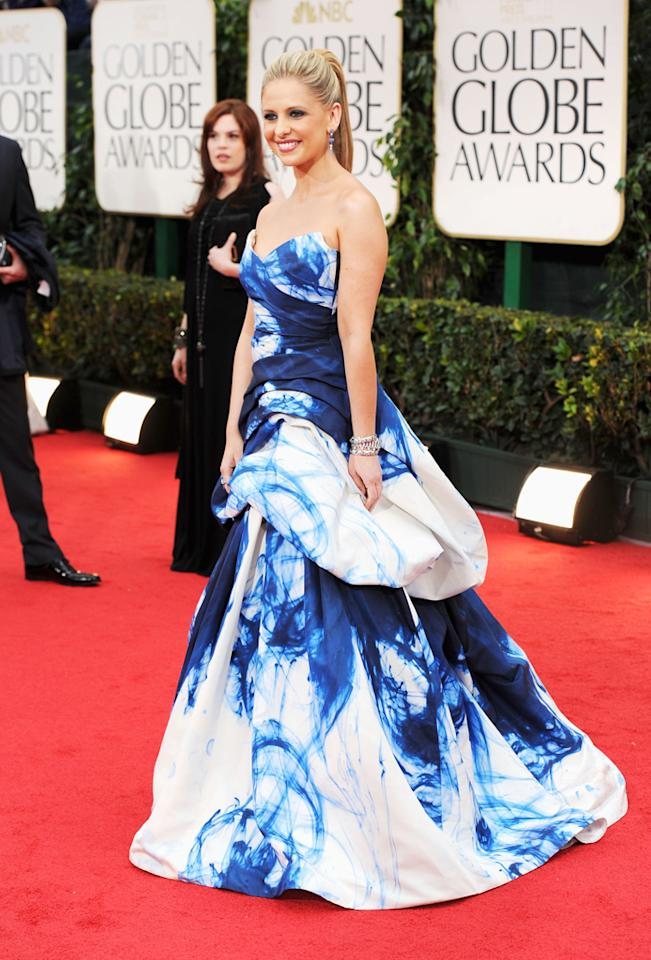 BEST: Sarah Michelle Gellar arrives at the 69th Annual Golden Globe Awards in Beverly Hills, California, on January 15.