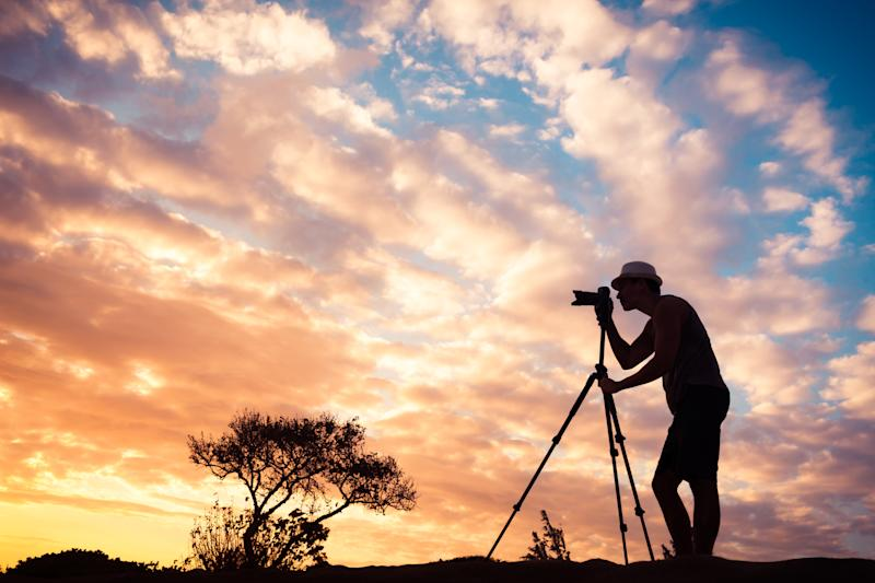 Male photographer outdoors