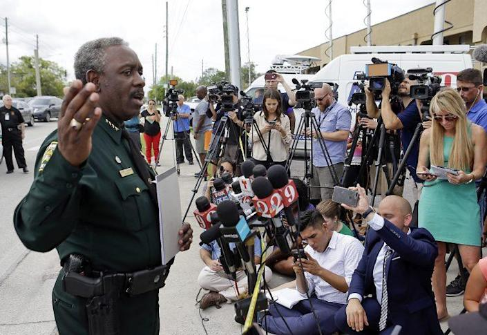 Orange County Sheriff Jerry Demings answers questions at a news conference near the scene of a shooting where there were multiple fatalities in an industrial area near Orlando Monday morning. (Photo: John Raoux/AP)