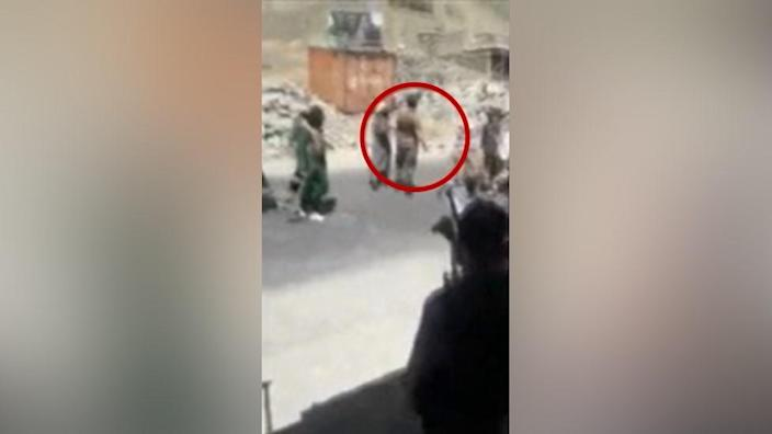 Footage shows the killing of a man in Afghanistan's Panjshir province