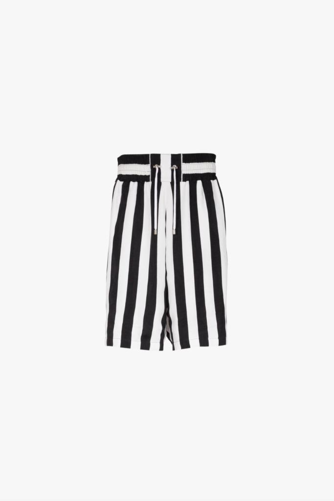 Balmain, Maluma, Collab, Striped Shorts