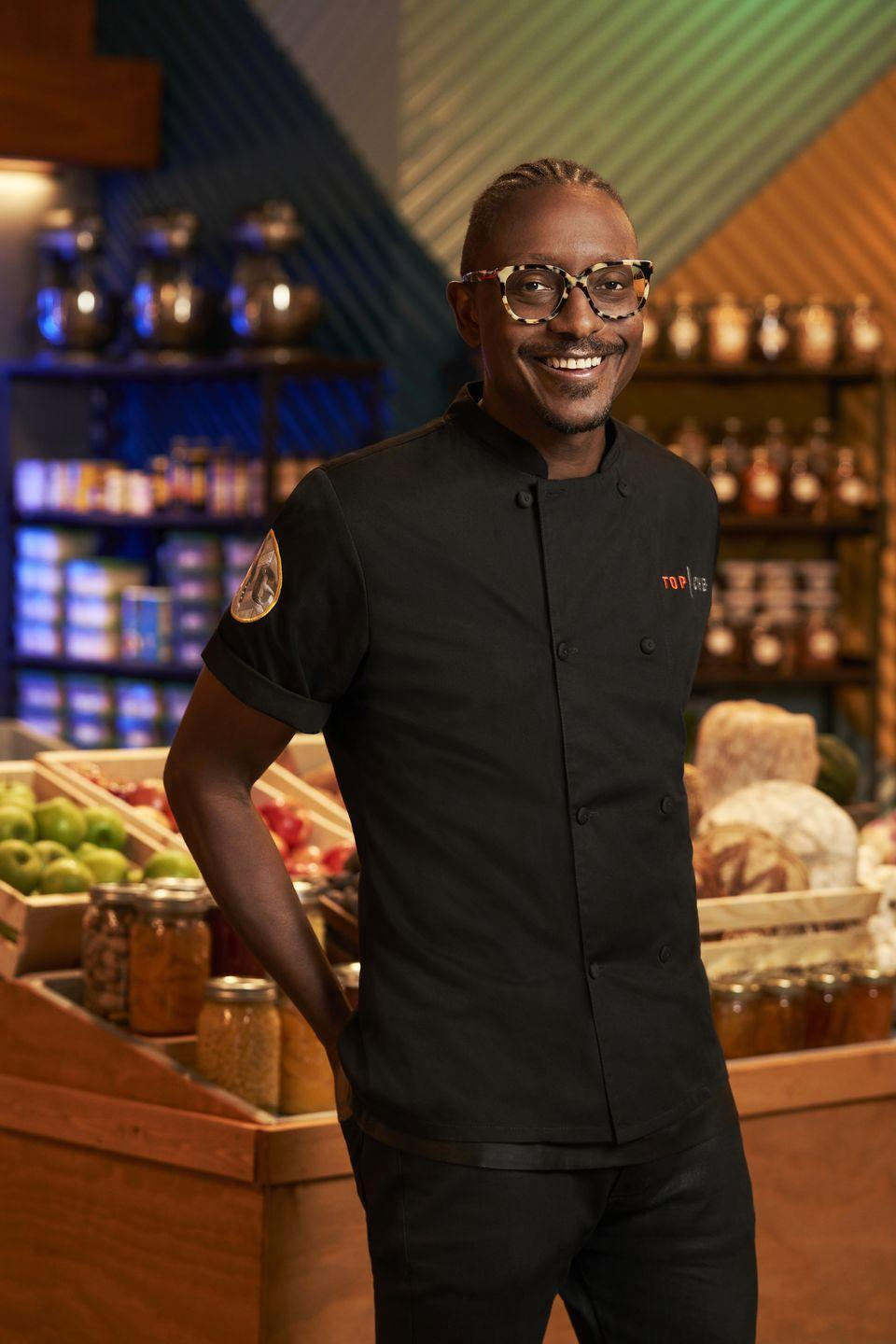 """<p>Gregory hadn't appeared on the program since his defeat in 2014, until he returned to compete for the title in season 17. The chef, who strongly pulls from his Haitian background, is planning on <a href=""""https://heavy.com/entertainment/2020/03/top-chef-gregory-gourdet-restaurant/"""" rel=""""nofollow noopener"""" target=""""_blank"""" data-ylk=""""slk:opening a restaurant in 2021"""" class=""""link rapid-noclick-resp"""">opening a restaurant in 2021</a>. </p>"""