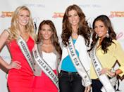 (L-R) Miss Missouri USA Katie Kearney, Miss Delaware USA Krista Clausen, Miss Alabama USA Katherine Webb, and Miss Louisiana USA Erin Edmiston attend the CitySightseeing New York Cruise at Pier 78 on May 8, 2012 in New York City. (Photo by Cindy Ord/Getty Images)
