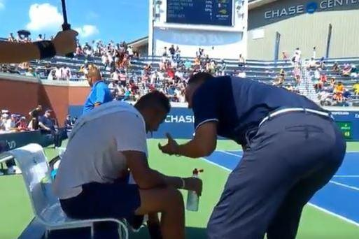 "Incident | Kyrgios had been struggling and Lahyani told him: ""I want to help you. You are great for tennis. I know this is not you."""