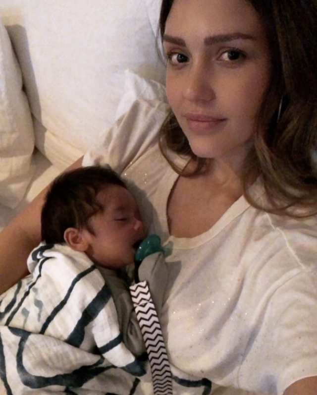"<p>""Tuesdays/all the days w my Hayes #chillin watching @graceandfrankie,"" the mom of three wrote, as her baby boy slept peacefully. ""I'm on Season 4 and I don't want it to end #bingewatching #graceandfrankie #lovethisshow #newbornmom."" (Photo: <a href=""https://www.instagram.com/p/BemGoIBhMzL/?taken-by=jessicaalba"" rel=""nofollow noopener"" target=""_blank"" data-ylk=""slk:Jessica Alba via Instagram"" class=""link rapid-noclick-resp"">Jessica Alba via Instagram</a>) </p>"