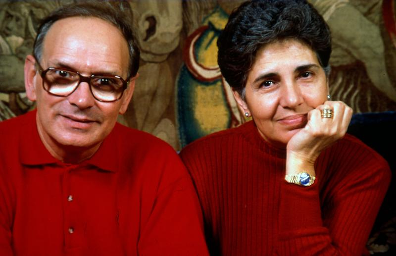 Music composer Ennio Morricone and his wife Maria Morricone Travia, Rome, Italy, 1991. (Photo by Luciano Viti/Getty Images) (Photo: Luciano Viti via Getty Images)