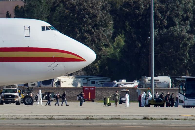 U.S. coronavirus evacuee from China placed under quarantine order after trying to flee base