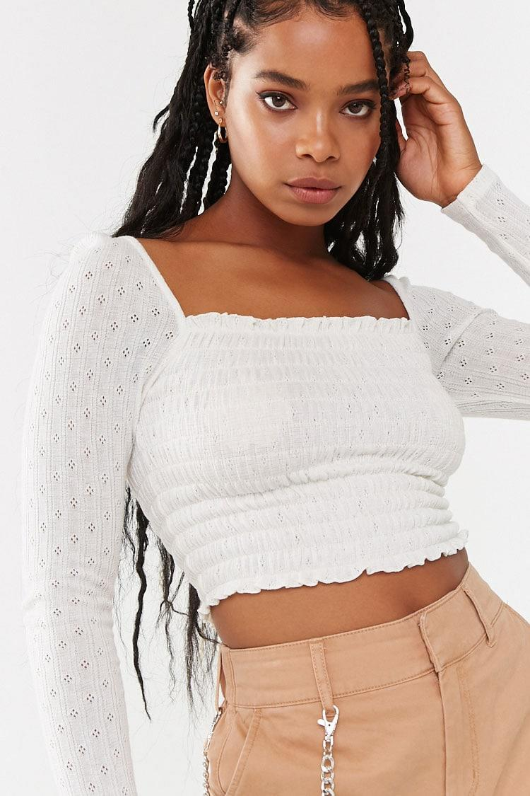 Smocked Pointelle Top. Image via Forever 21.
