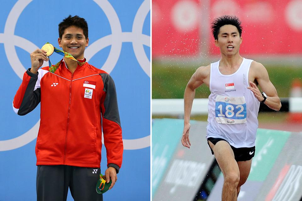 Joseph Schooling (left) and Soh Rui Yong are among the Singaporean athletes who have forged their own routes to success. (PHOTOS: Getty Images, Reuters)