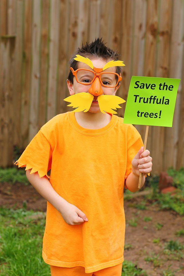"""<p>Teach your kids about the importance of sticking up for Mother Earth with this Dr. Seuss-inspired costume. """"Furry"""" glasses are a necessary finishing touch.</p><p><strong>Get the tutorial at <a href=""""https://www.themomcreative.com/2017/02/lorax-diy-dr-seuss-costume.html"""" rel=""""nofollow noopener"""" target=""""_blank"""" data-ylk=""""slk:The Mom Creative"""" class=""""link rapid-noclick-resp"""">The Mom Creative</a>.</strong></p><p><a class=""""link rapid-noclick-resp"""" href=""""https://go.redirectingat.com?id=74968X1596630&url=https%3A%2F%2Fwww.walmart.com%2Fsearch%2F%3Fquery%3Dglasses%2Bnoses&sref=https%3A%2F%2Fwww.thepioneerwoman.com%2Fholidays-celebrations%2Fg37014285%2Fbook-character-costumes%2F"""" rel=""""nofollow noopener"""" target=""""_blank"""" data-ylk=""""slk:SHOP GLASSES WITH NOSES"""">SHOP GLASSES WITH NOSES</a></p>"""