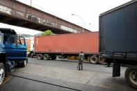 Venezuelan truckers wait in long lines for fuel amid diesel shortages