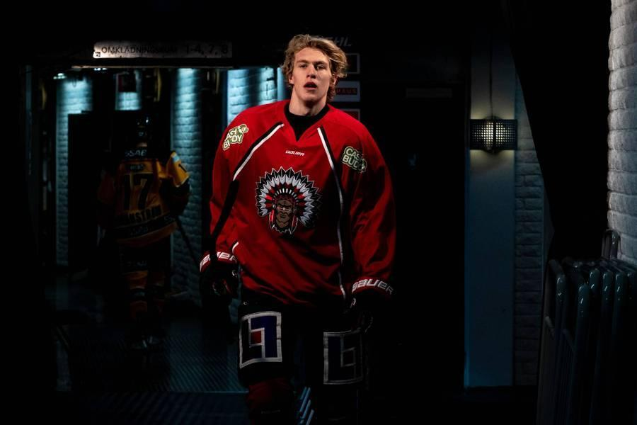 Simon Edvinsson is a mobile 6-foot-5 defenseman from Sweden who's ranked by NHL Central Scouting as one of the top prospects in the 2021 NHL draft, which starts Friday.