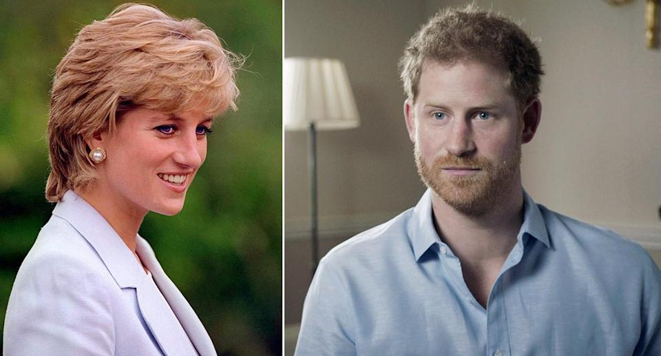 Prince Harry has opened up on the death of Diana (Picture: BBC)
