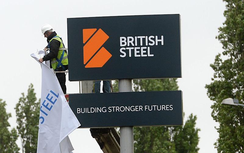 British Steel reveals its new logo after buying the business from Tata - Credit: PA
