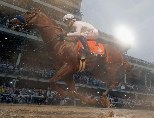 Justify won last year's Kentucky Derby, a record sixth straight favorite to win. (Getty)