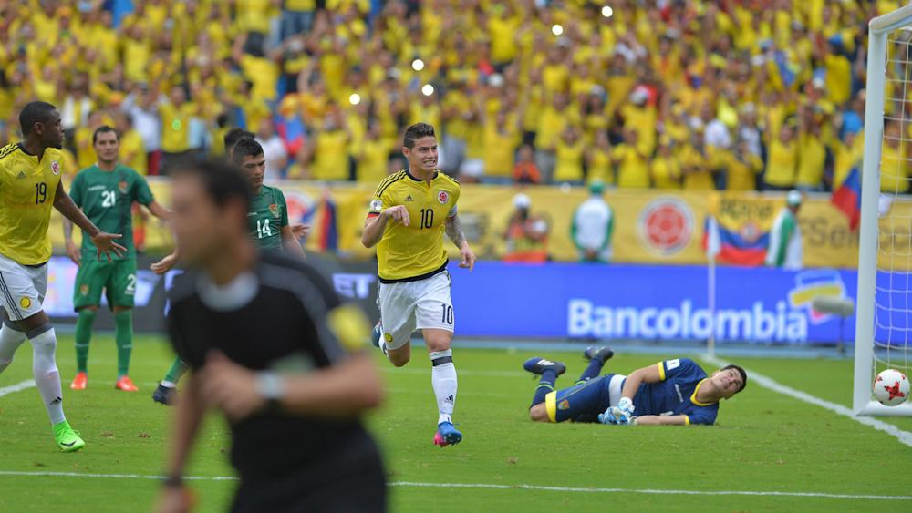 James Rodriguez Goal Colombia Bolivia South America Qualifiers 23032017