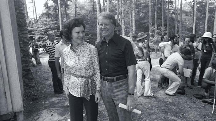 Rosalynn and Jimmy Carter in 1976
