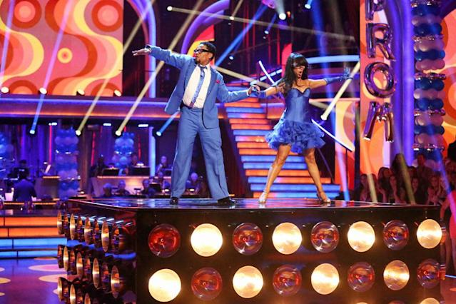 """D.L. Hughley and Cheryl Burke perform on """"Dancing With the Stars."""""""