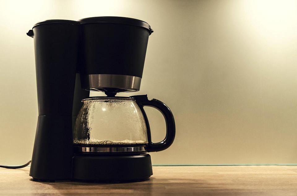 """<p>If you're like us, you probably brew a fresh cup (or pot!) of coffee every day. And since your coffee maker is a hot bed for bacteria and mold, you do need to <a href=""""http://www.goodhousekeeping.com/home/cleaning/tips/a26565/cleaning-coffee-maker/"""" rel=""""nofollow noopener"""" target=""""_blank"""" data-ylk=""""slk:clean it daily"""" class=""""link rapid-noclick-resp"""">clean it daily</a>. """"It's best to wash the removable parts of your coffee maker after every use to remove coffee, grinds, and oil,"""" says Forte. """"You can hand wash at the sink with warm and soapy water, but usually the pieces are dishwasher-safe. And don't forget to wipe down the outside and the warming plate where spills can burn on.""""</p>"""