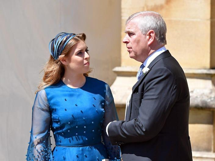 Princess Beatrice and Prince Andrew 2018