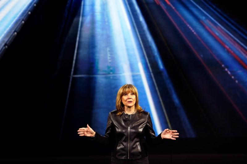 General Motors Chairman and CEO Mary Barra speaks during a keynote address at the 2016 CES trade show in Las Vegas