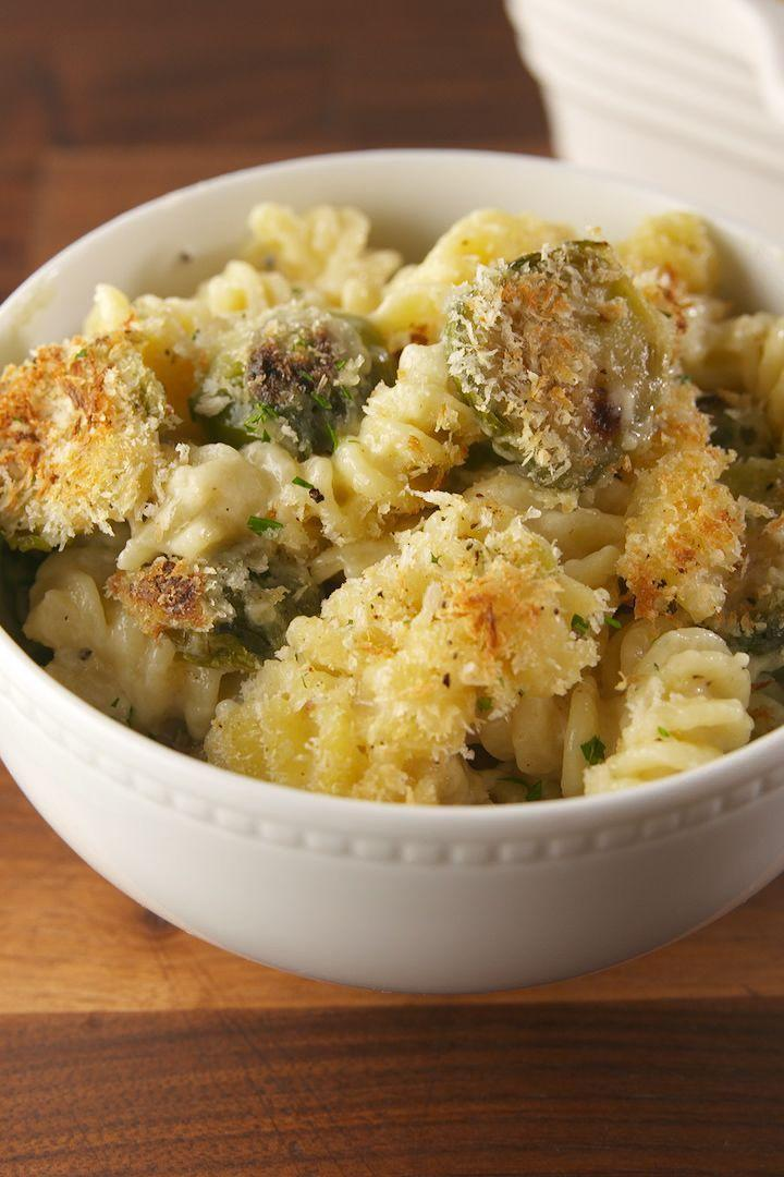 """<p>It has Brussels sprouts so it's healthy, right? </p><p>Get the <a href=""""https://www.delish.com/uk/cooking/a33572095/brussels-sprouts-mac-recipe/"""" rel=""""nofollow noopener"""" target=""""_blank"""" data-ylk=""""slk:Brussels Sprouts Mac & Cheese"""" class=""""link rapid-noclick-resp"""">Brussels Sprouts Mac & Cheese</a> recipe.</p>"""
