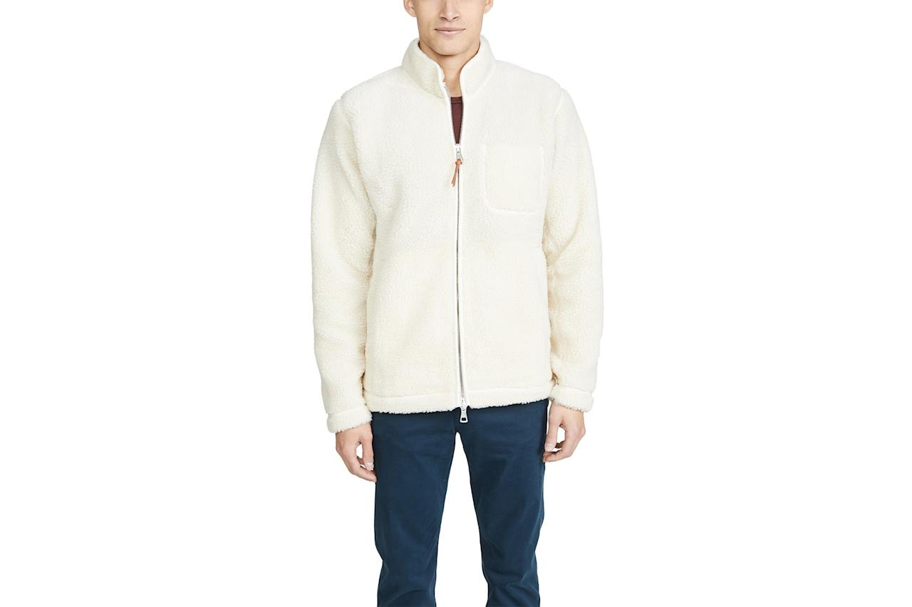 "$225, East Dane. <a href=""https://www.eastdane.com/zipped-curly-fleece-full-zip/vp/v=1/1534491840.htm?folderID=52661&colorId=11947"">Get it now!</a>"