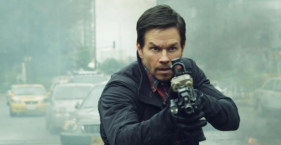 """<p>Peter Berg and muse Mark Wahlberg turn from three stories of real-life heroism (<em>Lone Survivor, Deepwater Horizon, Patriots Day</em>) to what they hope <a rel=""""nofollow noopener"""" href=""""http://www.slashfilm.com/mile-22-trilogy-coming-from-peter-berg-and-mark-wahlberg/"""" target=""""_blank"""" data-ylk=""""slk:will be a true action trilogy"""" class=""""link rapid-noclick-resp"""">will be a true action trilogy</a>. This (fictionalized) tale follows a CIA operative tasked with transporting a witness through a treacherous Indonesian stretch. (STX) </p>"""