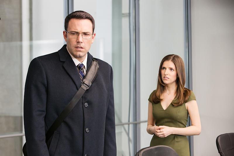 Ben Affleck and Anna Kendrick go on the run in 'The Accountant,' a 'ridiculous and jumbled thriller' that just doesn't add up, writes Us Weekly film critic Mara Reinstein