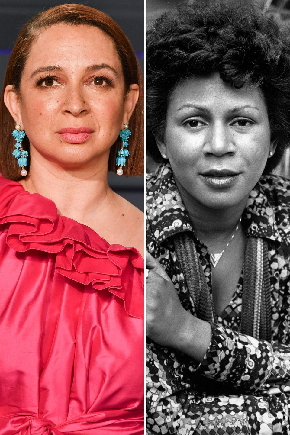 <p>Maya Rudolph is nearly a replica of her late mother, singer-songwriter Minnie Riperton. </p>