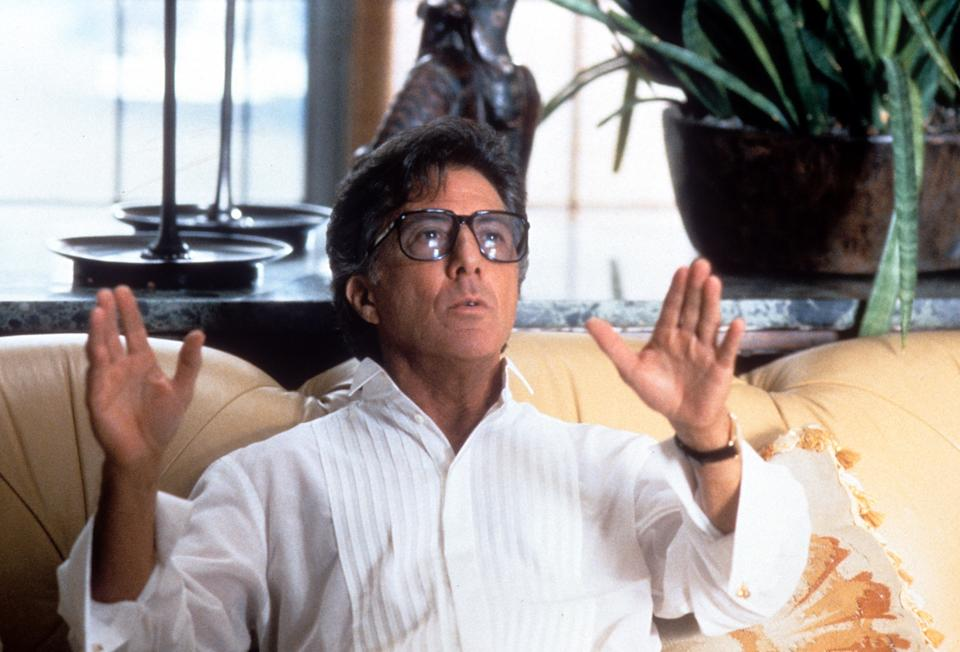 Dustin Hoffman in a scene from the film 'Wag The Dog', 1997. (Photo by New Line Cinema/Getty Images)