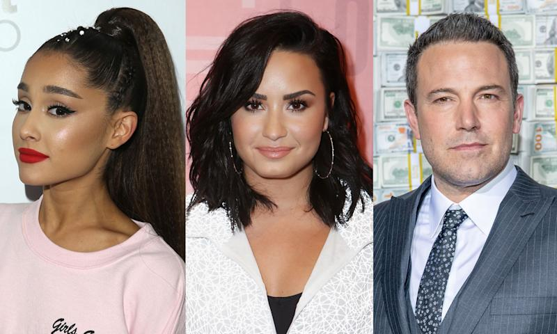 Ariana Grande, Demi Lovato and Ben Affleck are apparently in new relationships amid the coronavirus pandemic.