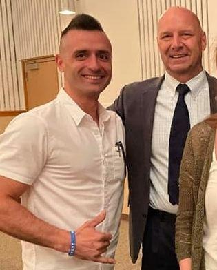 Lazar poses with Mastriano at the May 15 event. (Photo: Facebook)