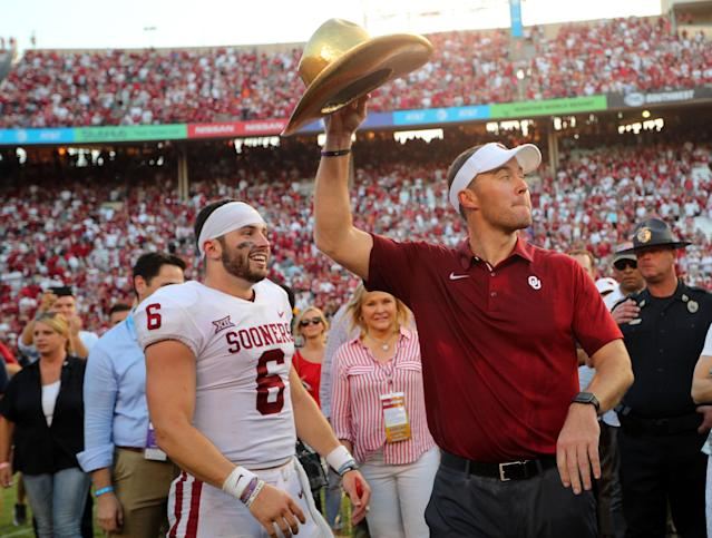Baker Mayfield and Lincoln Riley had great success at Oklahoma. (Getty Images)