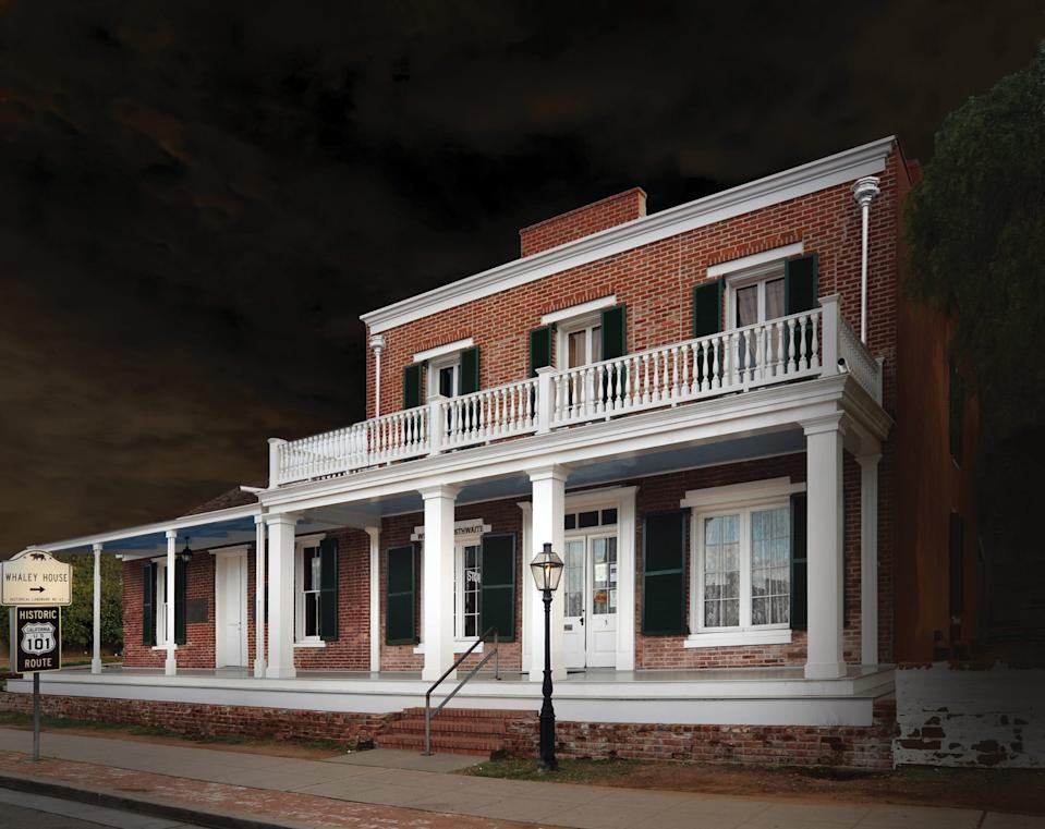 San Diego's Whaley House has been the site of a series of deaths. Legend has it the ghost of a man hanged on the groundscan be heard stomping through the halls. Sightings of the Whaley family have also been reported there.