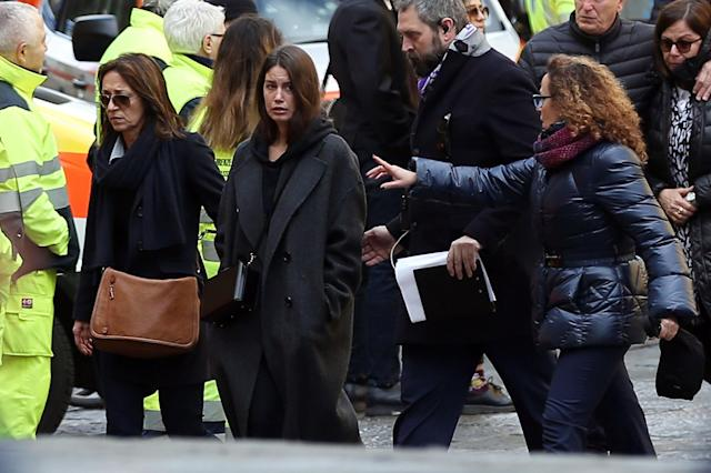 <p>Francesca Fioretti, companion of Davide Astori, on March 8, 2018 in Florence, Italy. (Photo by Gabriele Maltinti/Getty Images) </p>