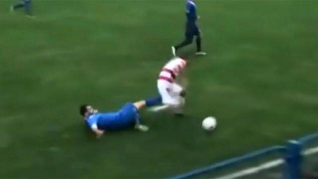 The horror tackle. Pic: Central European News