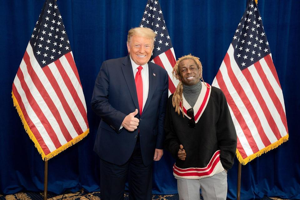 Donald Trump and Lil Wayne (Twitter / @LilTunechi)